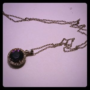 Jewelry - Round Amethyst Solitaire Pendant